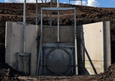 Channel Gates Installed In Storage Dam