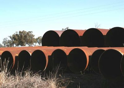 Steel Pipes In The Yard